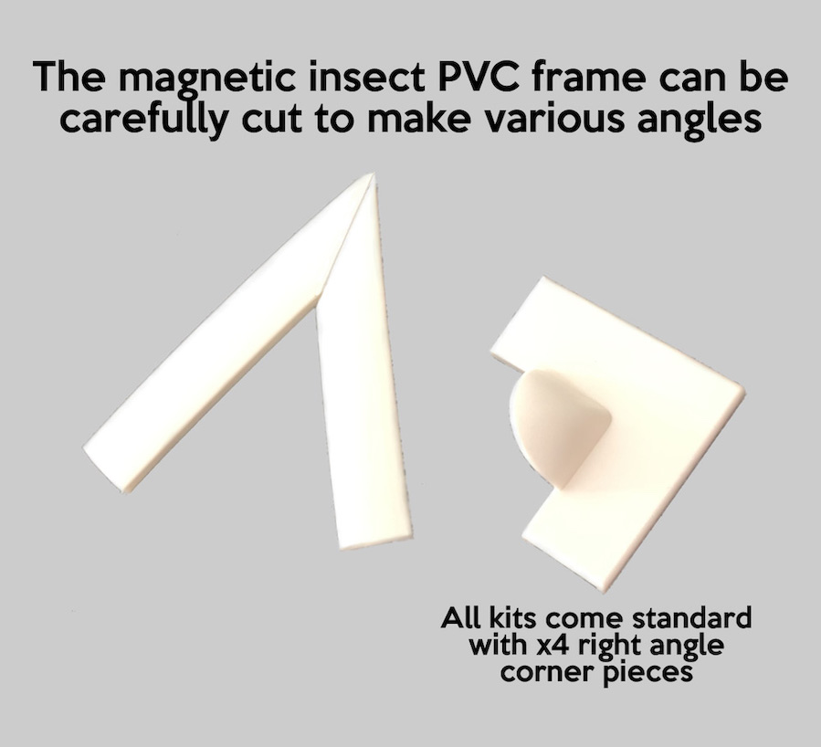 magnetic screen pvc framing triangle corners